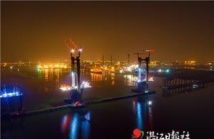 """调顺跨海大桥建设""""顺风顺水""""预计明年春节前具备通车条件"""