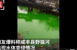 湖北恩施一河水突然变绿,官方回应:示踪剂所致,无毒无害