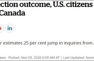 """总统大选日,""""如何移居加拿大""""在美国搜索量暴增"""
