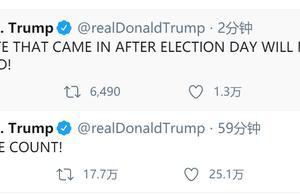 特朗普又发推:选举日后的任何投票都将不被计入