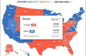 """关键州接连""""翻蓝"""",特朗普起诉两州被驳回"""