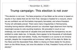 美媒称特朗普还没有计划承认败选,拜登:有能力赶走入侵者
