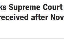 快讯!美媒:宾州共和党人要求最高法院暂停该州统计选举日后收到的邮寄选票
