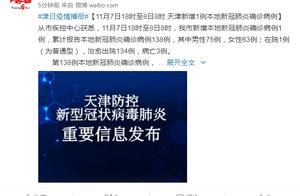 天津新增1例本地新冠肺炎确诊病例 系冷冻厂装卸工人