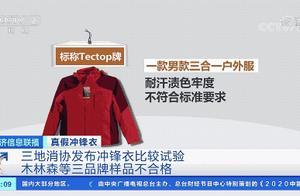 """三地消协发布冲锋衣比较试验,近4成样品""""有问题""""!这些品牌赫然在列"""