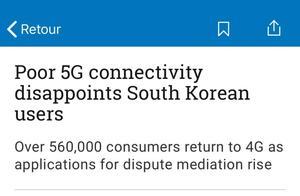 """""""用了5G,肠子悔青""""?槽点太多,这个国家大量用户重返4G"""