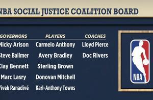 NBA与球员工会同意成立社会正义委员会,肖华、安东尼等人在列