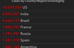 美国累计确诊病例超1000万,世卫预计明年3月能从根本上改变疫情发展方向   国际疫情观察(11月10日)