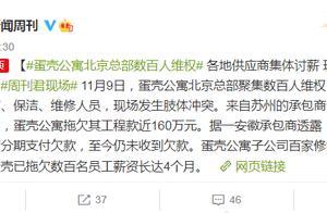 凉了?蛋壳公寓北京总部数百人维权,欠薪长达4个月