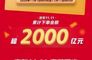 9分钟,京东双十一累计下单金额破2000亿!你贡献了多少?