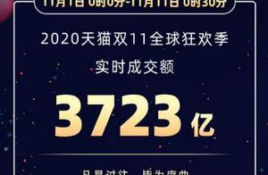 2020年淘宝天猫双十一成交销售额 今年双11数据实时
