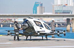 中国研制的自动驾驶飞行器在韩国试飞