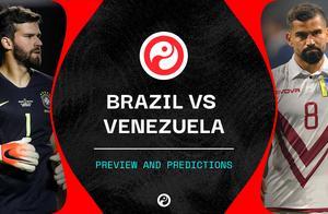巴西vs委内瑞拉首发:热苏斯、菲尔米诺领衔