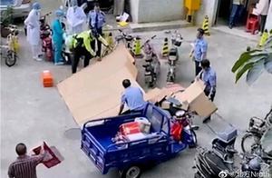 中通快递员被砸身亡,
