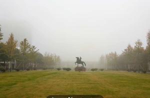 今晨的雾很是深邃,早起的你拍到了吗?气象台:杭州市区水平能见度768米