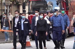 香港油麻地火灾已致7死11伤,林郑月娥16日上午到达现场视察