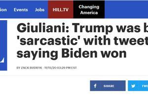 """外媒炒""""特朗普首次说拜登赢了"""",特朗普律师""""解释"""":其实是想讽刺拜登"""