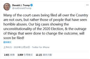 """特朗普称2020年总统选举""""违宪"""""""