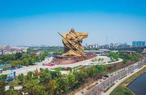 荆州违建巨型关公像正计划搬移,上月被住建部通报责令整改