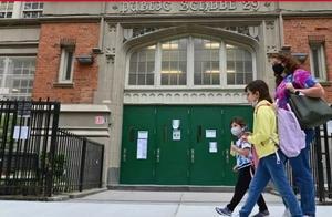 法媒:纽约公立学校复课不到三周再关闭 市长说新冠疫情凶猛很无奈