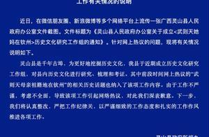 """广西灵山回应""""武则天她妈在钦州""""研究:确有此事,将整改"""