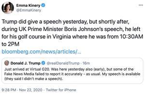 """特朗普回应G20峰会""""分神""""""""早退"""":我有发表演讲"""