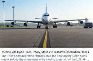 """再次""""退群""""!美国正式退出《开放天空条约》"""