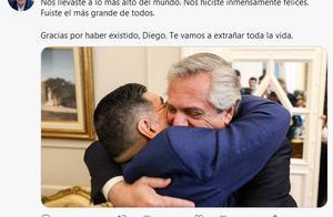 马拉多纳去世,阿根廷总统发推:感谢迭戈,我们将用终生把你思念