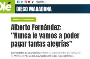 马拉多纳去世,阿根廷总统哀悼:这是所有阿根廷人极悲伤的一天