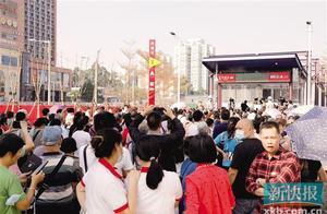 """广州地铁八号线北延段开通运营""""地铁真的为我们同德围解围了"""""""
