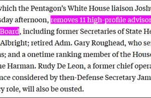 """美国国防政策委员会遭特朗普政府""""清洗"""",基辛格也被解职"""