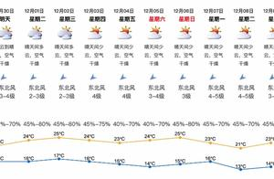 深圳未来一周天气干燥,早晚清凉最低温13℃,还要降温