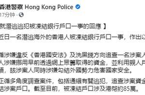 潜逃乱港分子许智峰银行账户被冻结,港警回应