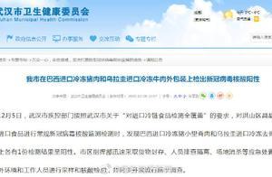 刚刚通报!武汉两份进口冷冻肉外包装检出新冠病毒核酸阳性,分别由上海和天津入境