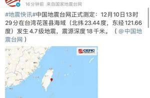 刚刚!4.7级地震!福建有震感