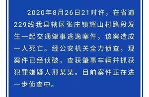 沂南县公安局:查获肇事车辆并抓获犯罪嫌疑人邢某某