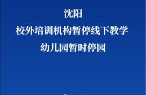 沈阳校外培训机构暂停线下教学 沈阳幼儿园暂时停园