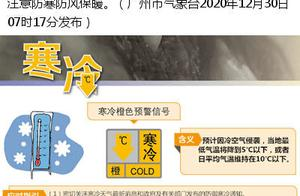 注意!广州市区发布寒冷橙色预警信号