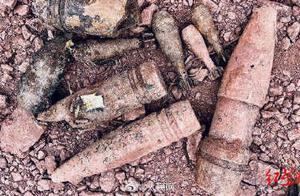 四川泸州一工地挖出上千枚炸弹