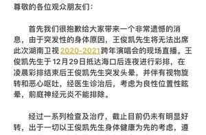201231 工作室凌晨发文 王俊凯因病退出湖南卫视跨年演唱会