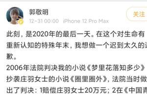 2020最后一天凌晨,郭敬明突发微博承认抄袭并道歉:请大家以我为戒