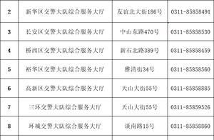 最新!石家庄市暂停综合警务服务站交通违法处理业务