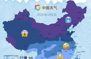 """""""全国冻哭预警地图""""出炉 身在四川的你,这次可能被冻得边跳边笑"""