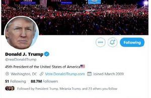 特朗普被推特禁言12小时!若还违反平台规则,账号将被永久移除