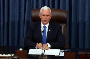 美国国会复会,彭斯:暴力永远不会胜利,让我们继续工作
