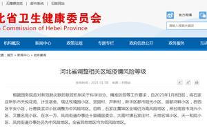 河北省石家庄市9个地区调整为中风险地区