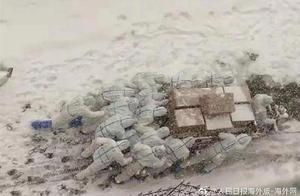 """风雪中的""""移动雕像"""",了不起的中国人"""