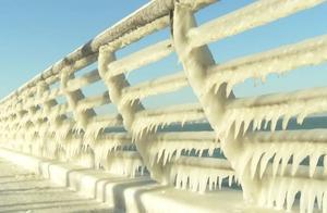 """冰挂奇景 北极圈""""青岛分圈"""""""
