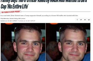 连自己人都杀?美媒曝:遭特朗普支持者袭击致死的警官,其实也支持特朗普