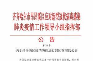 齐齐哈尔昂昂溪区:执行交通管制、生活管制